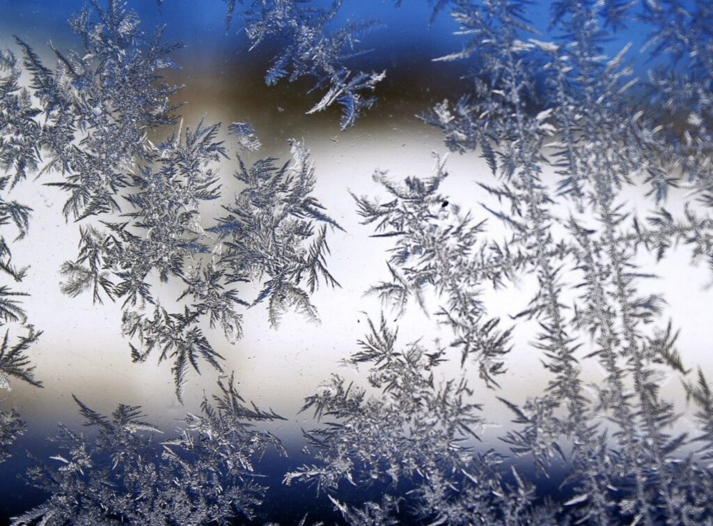 Large ice crystals in the ice or crystallization on the ice surface are a bad sign