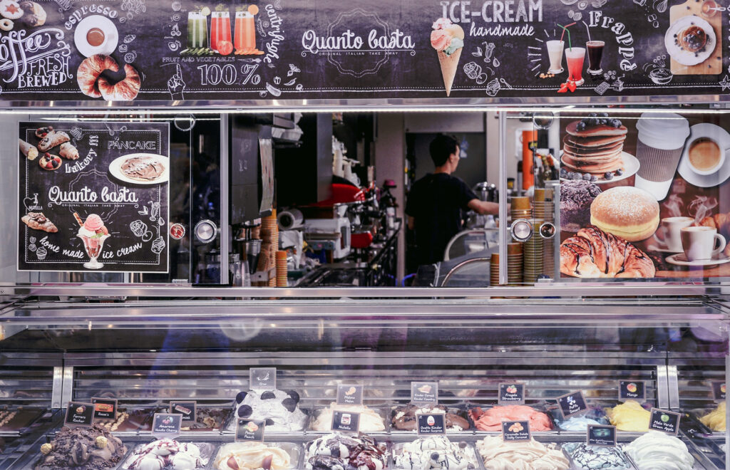 It is not always easy to recognize a really good ice cream parlor at first sight.
