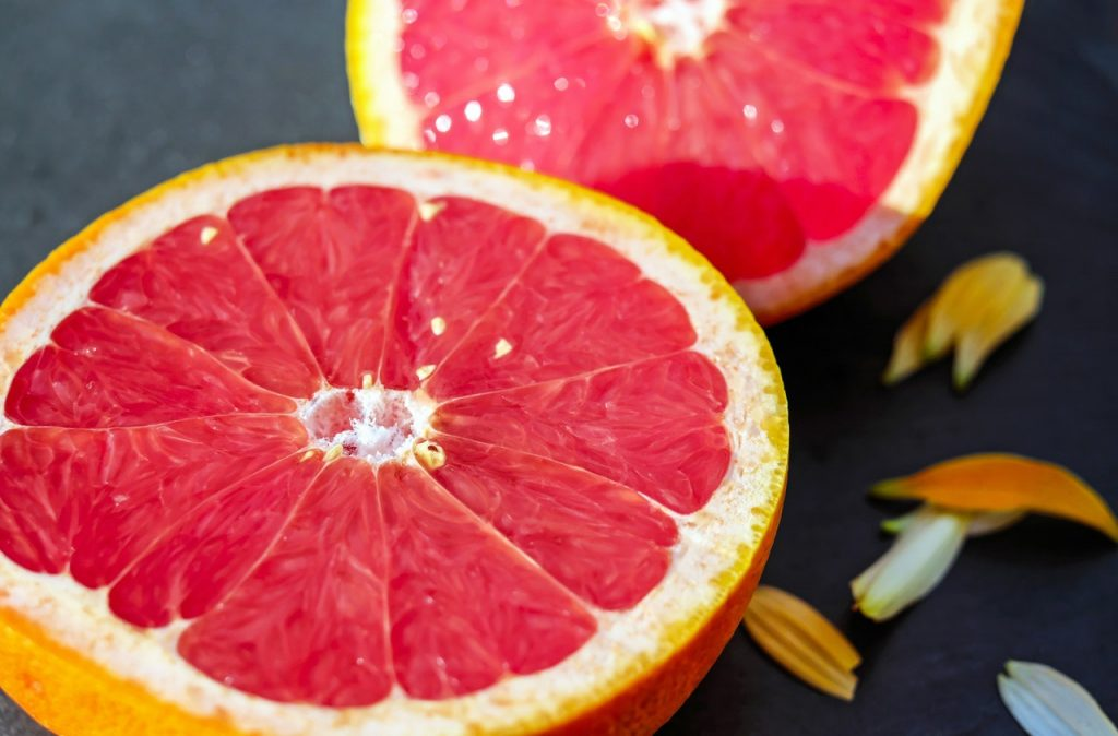 Pink grapefruits give this sorbet its beautiful pink colour.