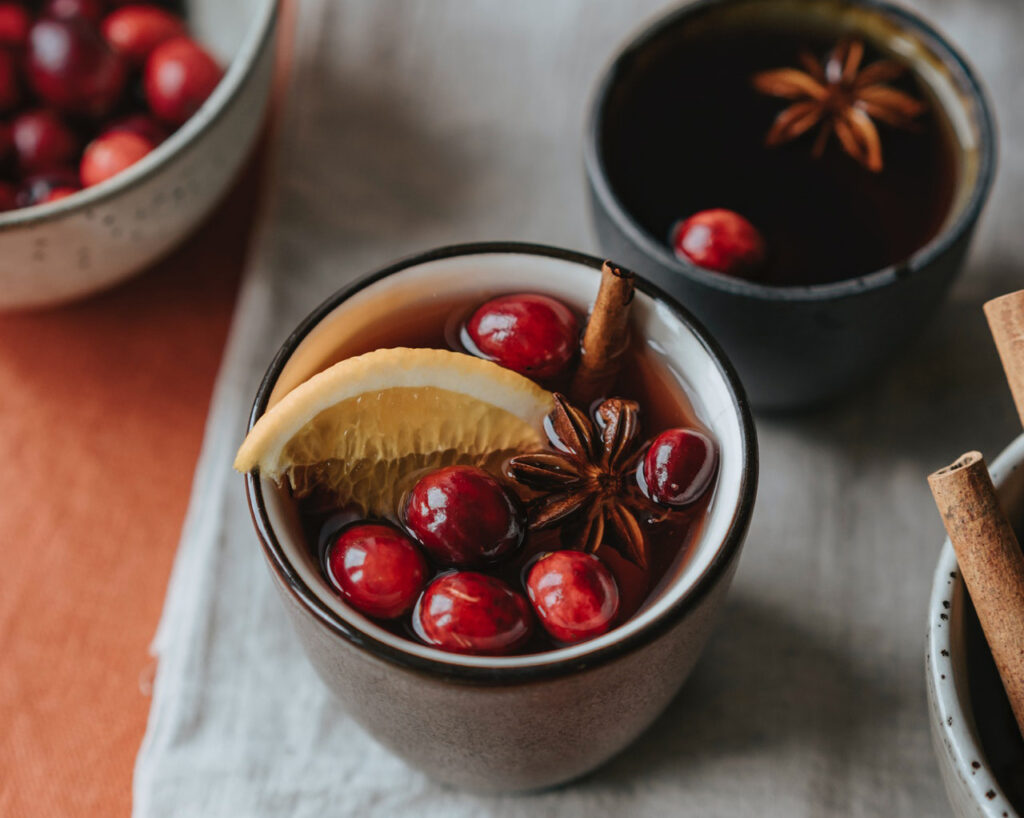 Here the warm variant of mulled wine. But be sure to try the ice cream as well.